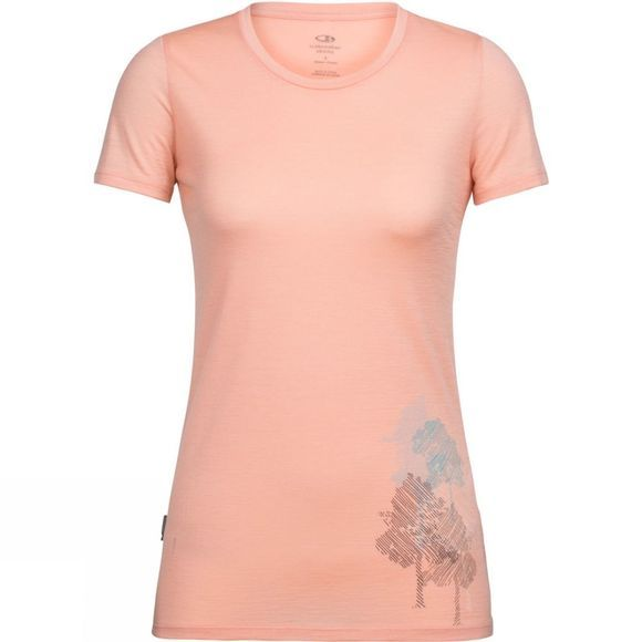 Womens Tech Lite Short Sleeve Low Crewe Through the Forest T-Shirt