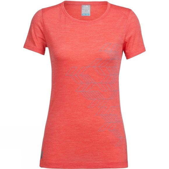 Womens Sphere Short Sleeve Low Crewe Fracture T-Shirt
