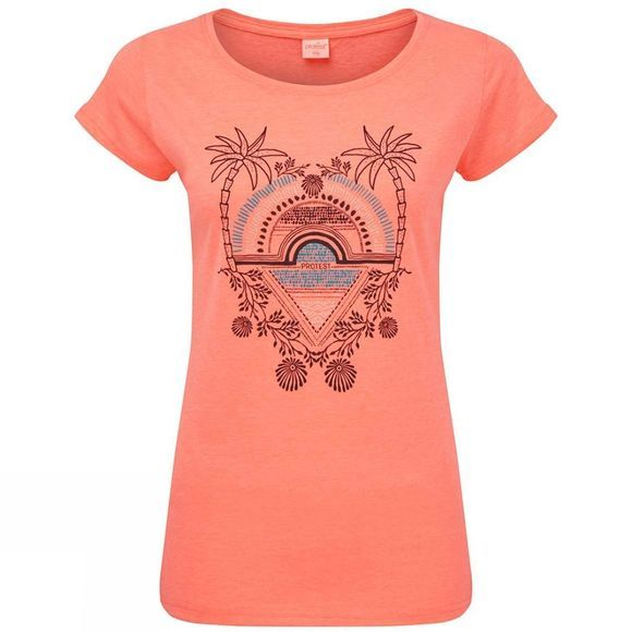 Protest Women's Styler T-Shirt Coral Blaze