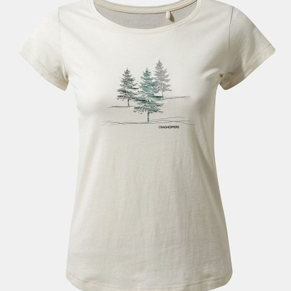 Craghoppers Womens Cornelia Short Sleeve T-Shirt Calico Etched Trees New