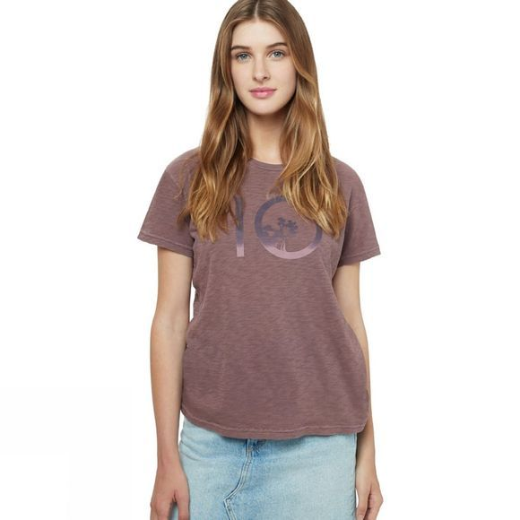 Tentree Womens Gradient Ten Short Sleeve Tee Aubergine Purple
