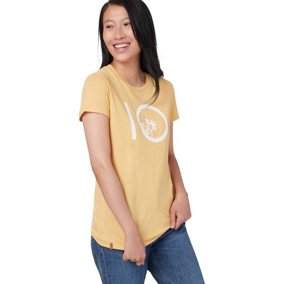 Tentree Womens Ten Short Sleeve Tee Misted Yellow Heather