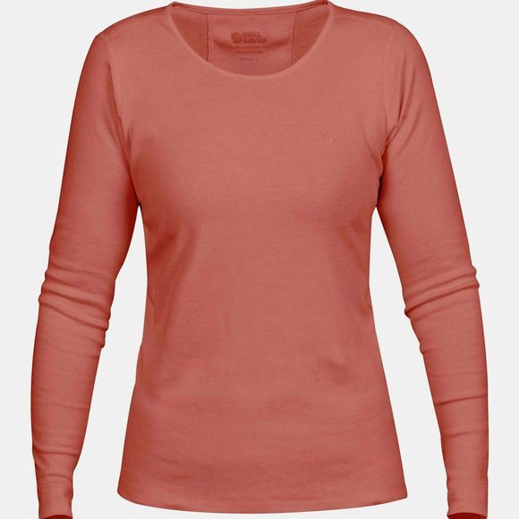 Fjallraven Övik Long Sleeve Top W Terracotta Pink