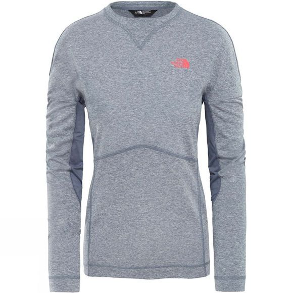 The North Face Womens Inlux Long Sleeve T-Shirt Grasille Grey White Heather