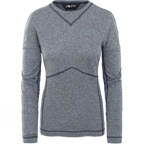 The North Face Womens Inlux Long Sleeve T-Shirt Urban Navy White Heather