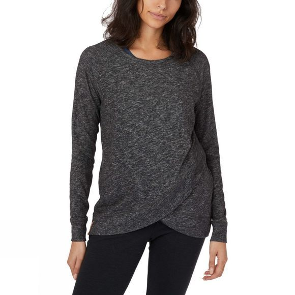 Tentree Womens Acre Long Sleeve  Meteorite Black Marled