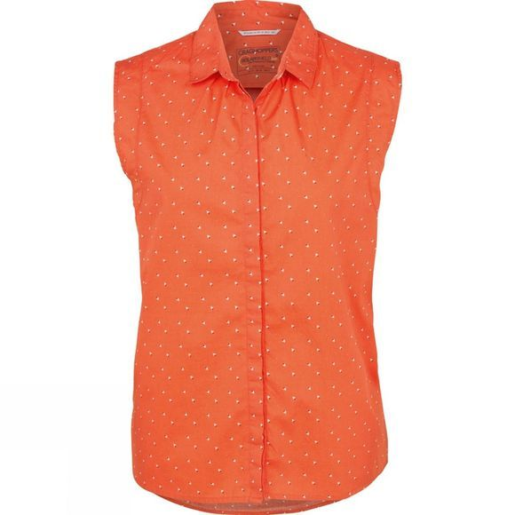 Craghoppers Womens Esta Sleeveless Shirt Bright Papaya Combo