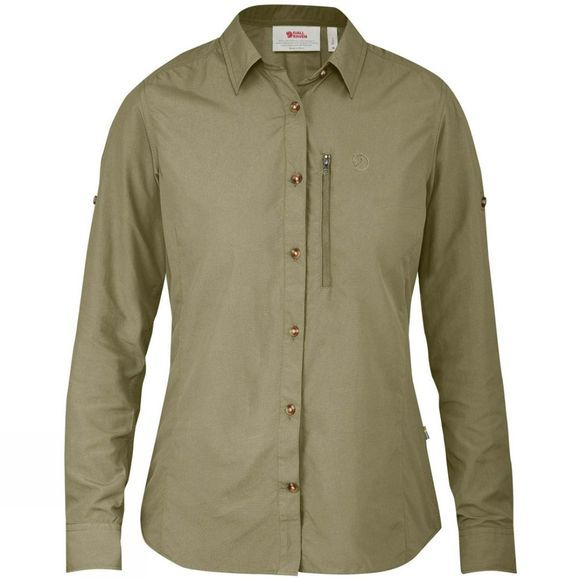 Fjallraven Womens Abisko Hike Shirt Long Sleeve Savanna