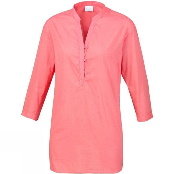 Columbia Womens Early Tide Tunic Mineral Pink Dots Print