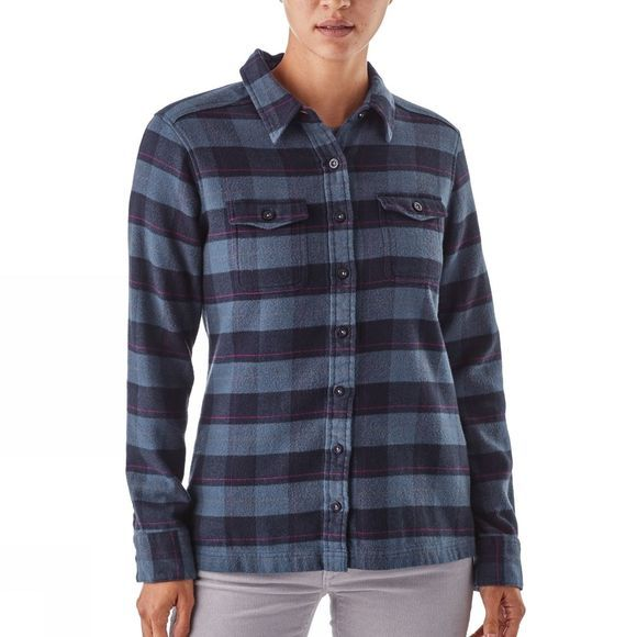 Womens Long Sleeved Fjord Flannel Shirt