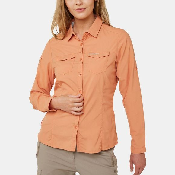 Craghoppers Womens Nosilife Adventure II Long Sleeve Shirt Soft Apricot