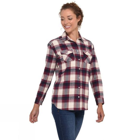 Brakeburn Womens Check Flannel Shirt Cream
