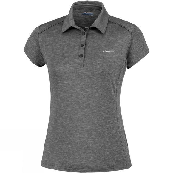 Columbia Womens Firwood Camp Polo Black Heather