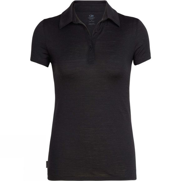 Icebreaker Womens Tech Lite SS Polo Black