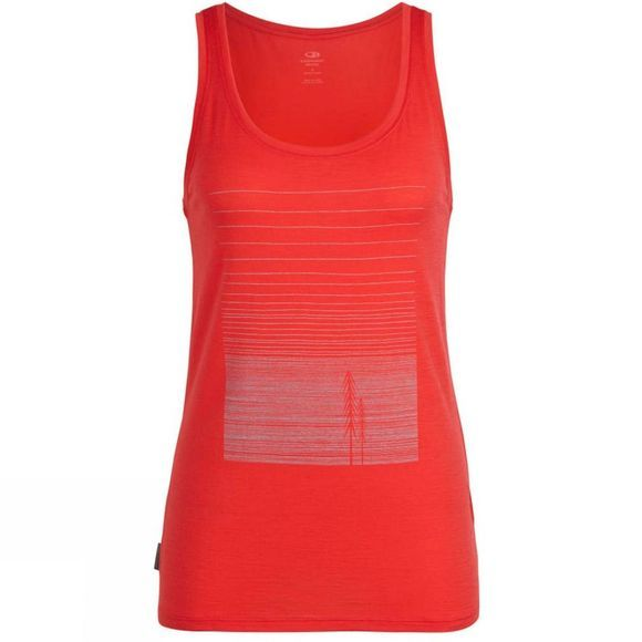 Icebreaker Womens Tech Lite Tank Woods Top Ember