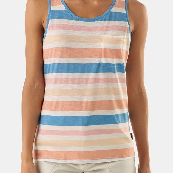 Patagonia Womens Mainstay Tank Top Water Ribbons: Port Blue