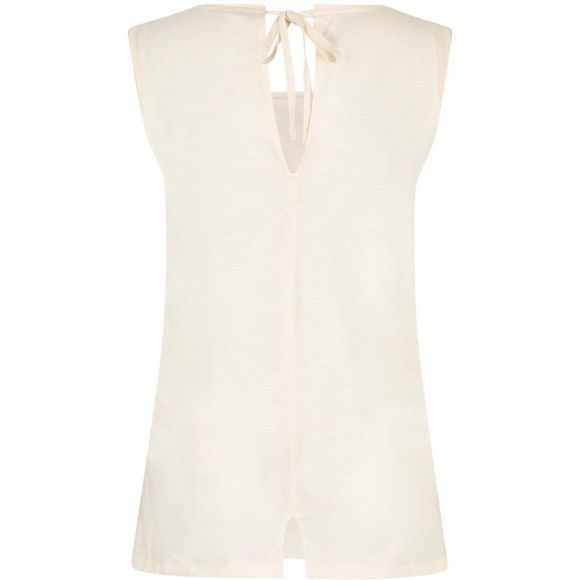 Weird Fish Womens Berti Slub Cotton Vest Light Cream