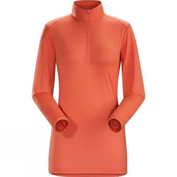 Arc'teryx Womens Phase SL Long Sleeve Zip Neck Orange Julia
