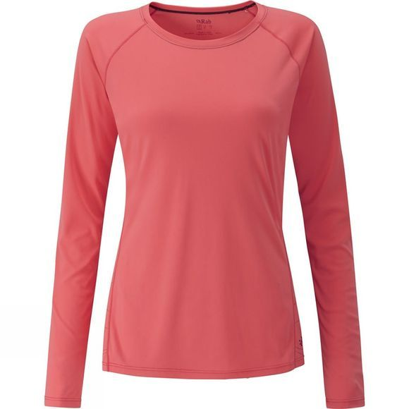 Rab Womens Aerial Long Sleeve Tee Coral