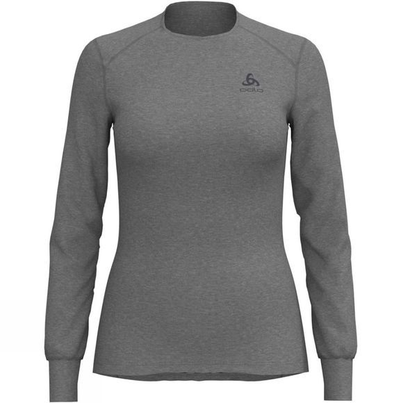 Odlo Women's Original Warm Long Sleeve Crew Grey Melange