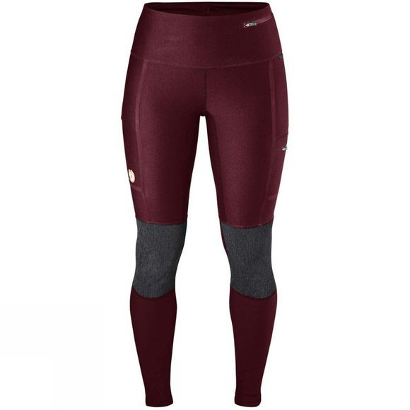 Fjallraven Women's Abisko Trekking Tights Dark Garnet