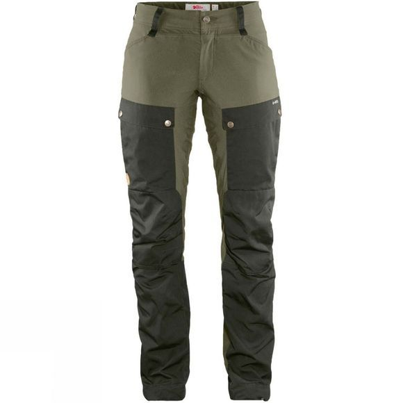 Fjallraven Womens Keb Trousers Curved Deep Forest / Laurel Green