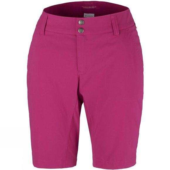 Columbia Women's Saturday Trail Long Shorts Wine Berry