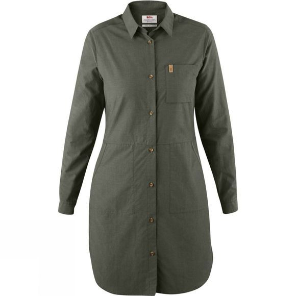 Fjallraven Womens Övik Shirt Dress Mountain Grey