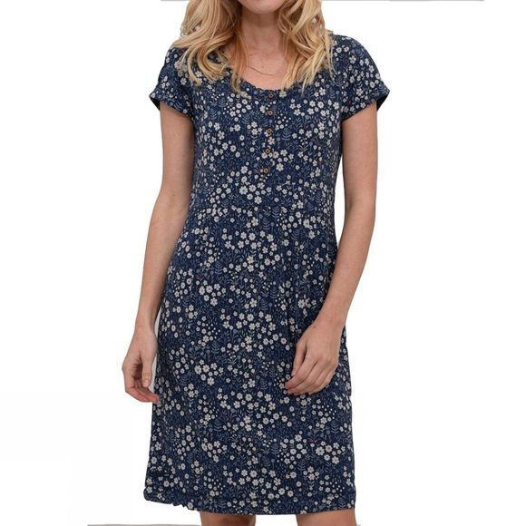 Womens Ditsy Flower Placket Dress