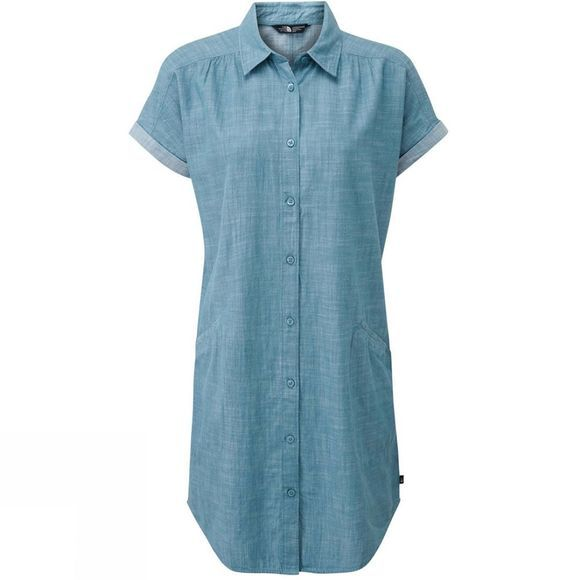 The North Face Womens Sky Valley Dress Storm Blue Chambray