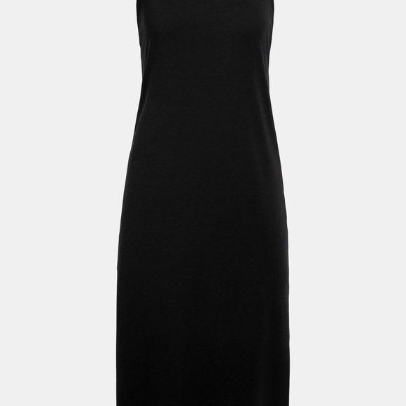 Icebreaker Womens Yanni Tank Midi Dress Black