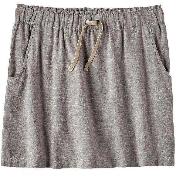 Patagonia Womens Island Hemp Beach Skirt Chambray Feather Grey