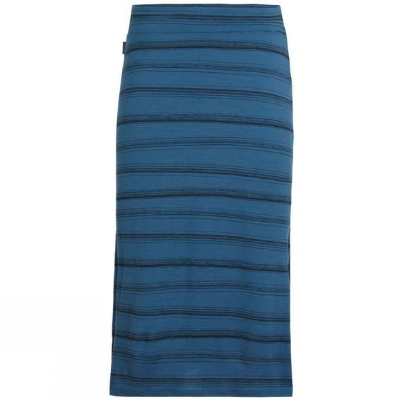 Icebreaker Womens Yanni Midi Skirt Scratch Stripe Thunder/Black