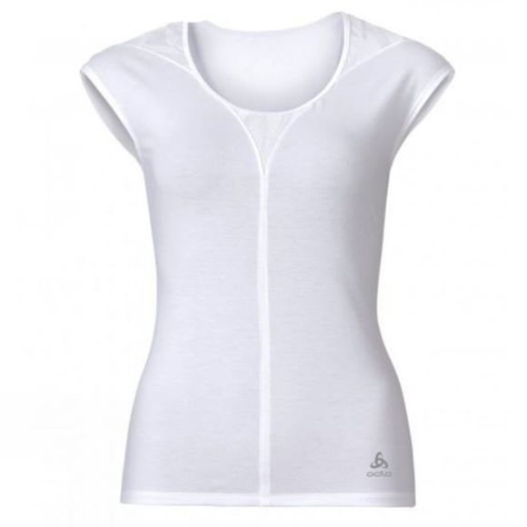 Odlo  WOMENS REVOLUTION TS X LIGHT SS CREW SNOW WHITE MELANGE