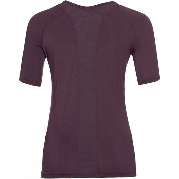 Odlo Womens Lou Mesh Short Sleeve Crew Neck Top Plum Perfect