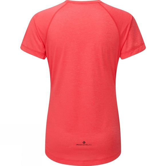 Ronhill Womens Momentum SS Tee Hot Pink Marl/Charcoal