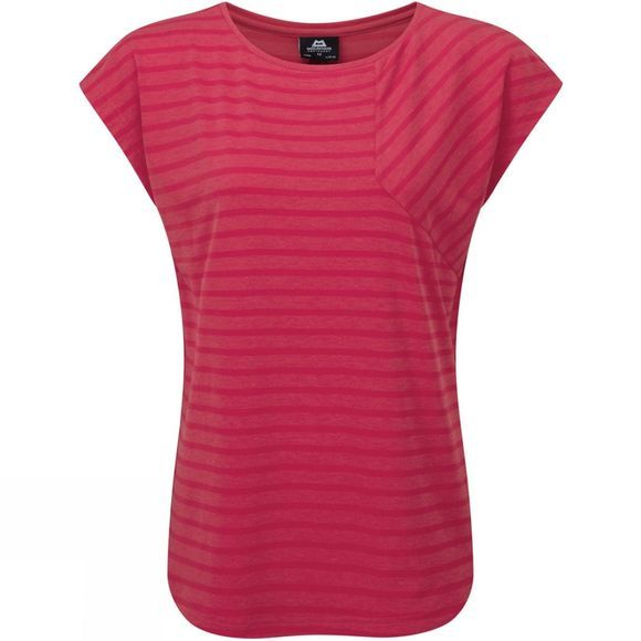 Mountain Equipment Womens Silhouette Tee Virtual Pink Stripe