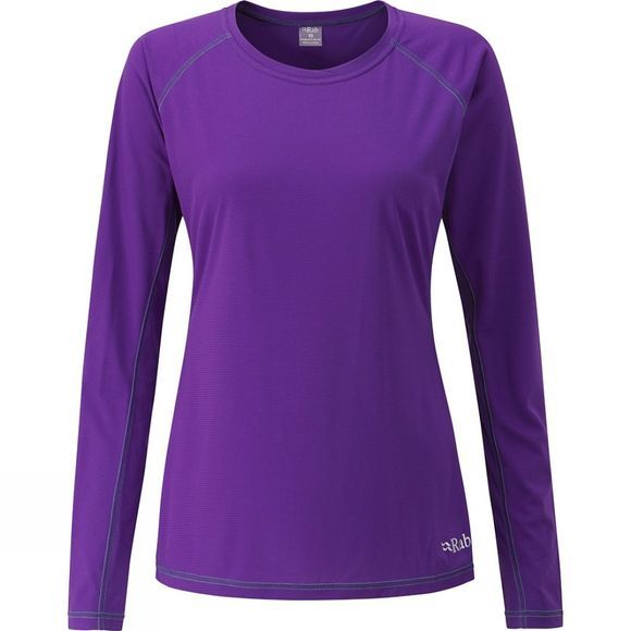 Rab Womens Interval Long Sleeve Crew Nightshade