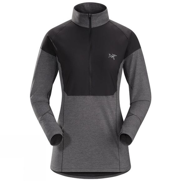 Arc'teryx Women's Taema Zip Neck Long Sleeve Shirt Black