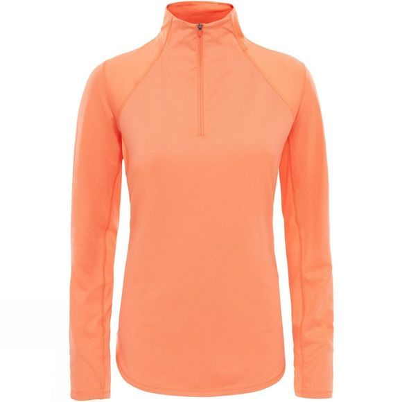 The North Face Womens Motivation 1/4 Zip Nasturtium Orange