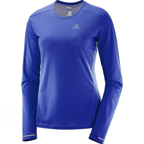 Salomon Womens Agile Long Sleeve T-shirt Surf The Web