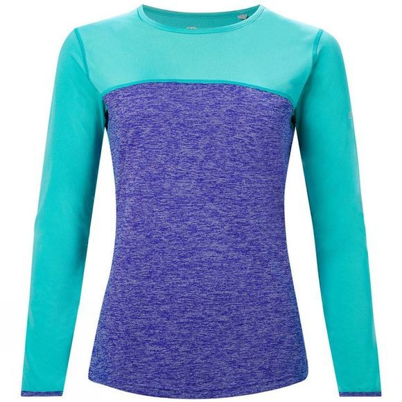 Berghaus Womens Voyager Tech Tee Long Sleeve Crew Spectrum Blue / Ceramic