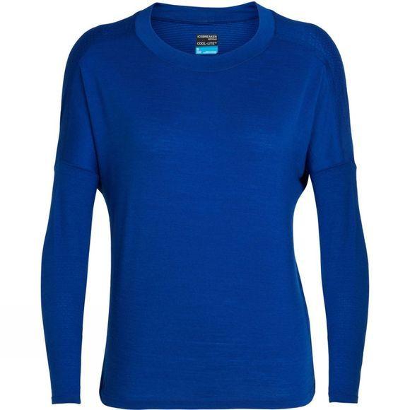 Icebreaker Womens Kinetica Long Sleeve Crewe Top Marine