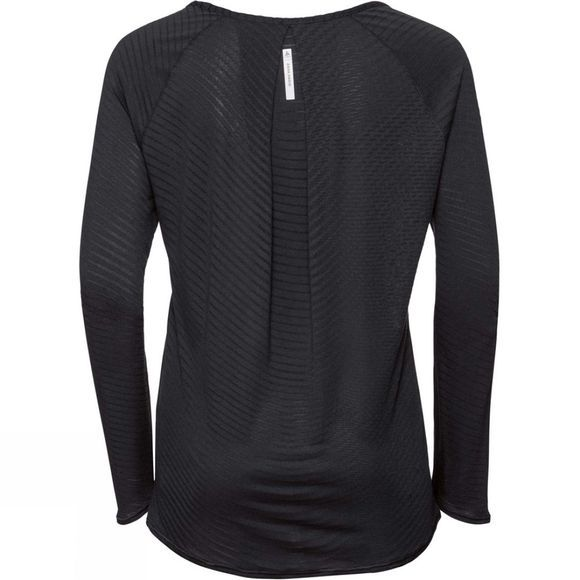 Odlo Women's Alma Natural Long Sleeve Crew Neck Top Black ZHD