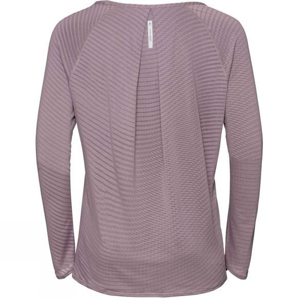 Odlo Women's Alma Natural Long Sleeve Crew Neck Top Quail ZHD