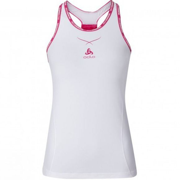 Odlo Women's Ceramicool Pro Singlet white/beetroot