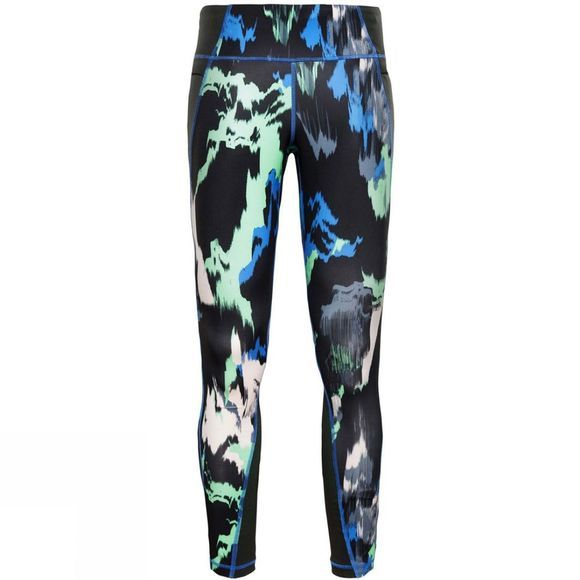 The North Face Womens Ambition Mid Rise Tights Dazzling Blue/Painted Feather Print