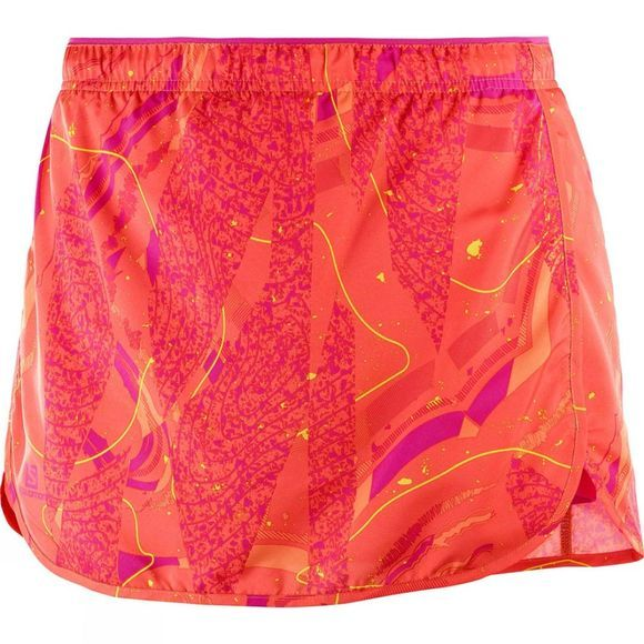 Salomon Womens Agile Skort Nasturtium/Pink Yarrow/Bird Of Paradise