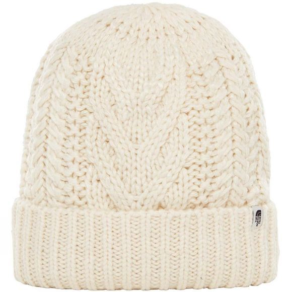 The North Face Womens Cable Minna Beanie Vintage White