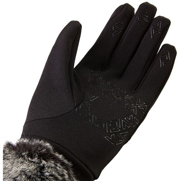 SealSkinz Womens Stretch Fleece Nano Lux Glove Black/Grey